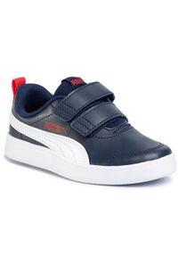 Puma Sneakersy Courtflex V2 V Ps 371543 01 Granatowy. Kolor: niebieski