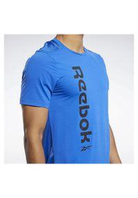 Koszulka treningowa męska Reebok Workout Ready Activchill FK6172. Materiał: poliester, elastan, nylon, materiał. Długość rękawa: krótki rękaw. Długość: krótkie. Wzór: napisy. Sport: fitness