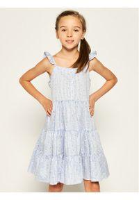 Niebieska sukienka Mayoral prosta, na co dzień, casualowa