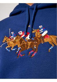 Polo Ralph Lauren Bluza Triple-Pony Crest 710823853001 Granatowy Regular Fit. Typ kołnierza: polo. Kolor: niebieski