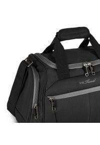 Wittchen - Mała miękka torba podróżna dwukolorowa. Kolor: wielokolorowy, czarny, szary. Materiał: poliester