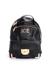 Złota walizka Iceberg w kolorowe wzory