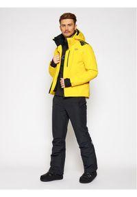 Descente Kurtka narciarska Breck DWMQGK09 Żółty Tailored Fit. Kolor: żółty. Sport: narciarstwo