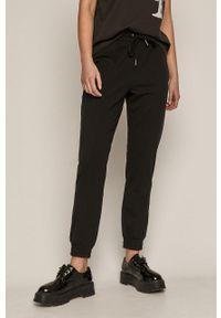 Czarne spodnie dresowe medicine gładkie #4