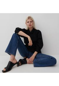 Reserved - Bluzka z bawełny organicznej - Czarny. Kolor: czarny. Materiał: bawełna