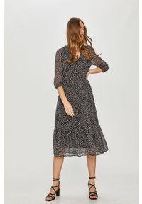 Czarna sukienka Answear Lab wakacyjna, na co dzień, maxi