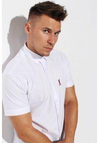 Biała koszula Edward Orlovski z krótkim rękawem, krótka