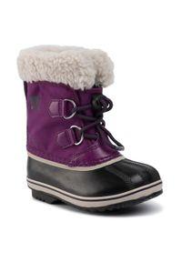 sorel - Sorel Śniegowce Childrens Yoot Pac Nylon NC1962 Fioletowy. Kolor: fioletowy. Materiał: nylon