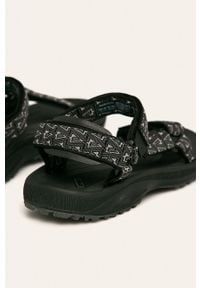 Czarne sandały Teva na rzepy