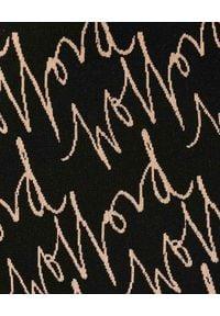 Wolford - WOLFORD - Leginsy z monogramem Aurora. Stan: podwyższony. Kolor: czarny. Materiał: materiał. Wzór: aplikacja. Styl: klasyczny