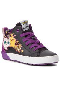 Geox - Sneakersy GEOX - J Kalispera G. G J844GG 0BCBU C9999 S Black. Kolor: czarny. Materiał: skóra, materiał