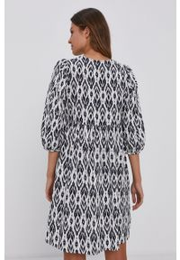 Vero Moda - Sukienka bawełniana. Kolor: biały. Materiał: bawełna. Długość rękawa: krótki rękaw