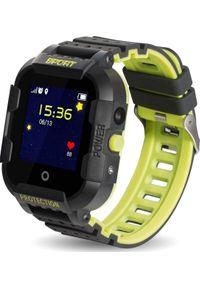 Smartwatch CALMEAN Sport Czarno-żółty. Rodzaj zegarka: smartwatch. Kolor: wielokolorowy, żółty, czarny. Styl: sportowy