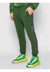 Kappa Spodnie dresowe Ireneus 309010 Zielony Regular Fit. Kolor: zielony. Materiał: dresówka