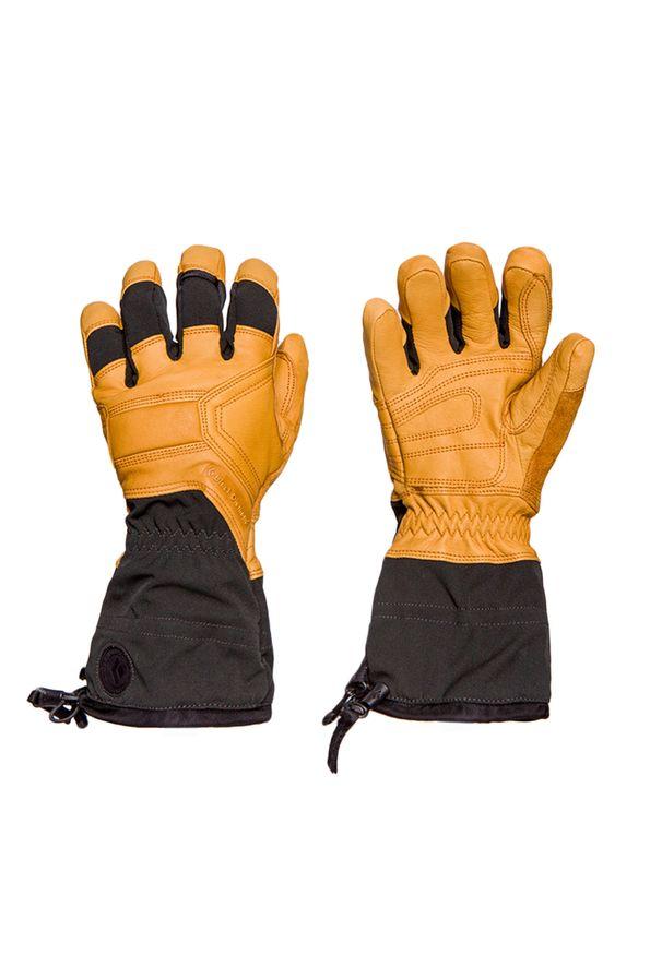 Żółta rękawiczka sportowa Black Diamond narciarska, na zimę, Gore-Tex
