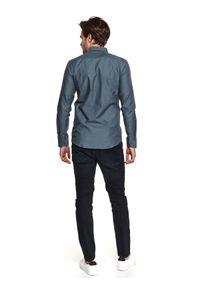 TOP SECRET - Koszula z tkaniny oxford. Kolor: zielony. Materiał: tkanina. Długość: długie. Sezon: wiosna. Styl: elegancki