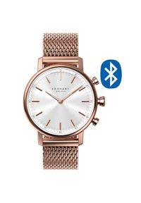 Kronaby Połączony wodoodporny zegarek Carat A1000-1400. Styl: retro