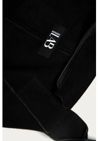 Czarna shopperka Answear Lab na ramię, duża, zamszowa