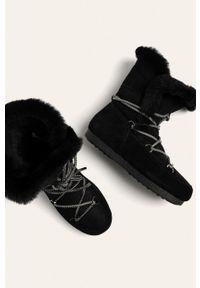 Czarne śniegowce Moon Boot na sznurówki, z cholewką, z okrągłym noskiem #5