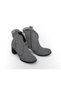 Czarne botki Zapato na co dzień, wąskie, na zamek