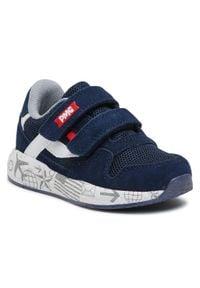 Primigi - Sneakersy PRIMIGI - 7453733 Navy. Okazja: na spacer, na co dzień. Zapięcie: rzepy. Kolor: niebieski. Materiał: skóra, zamsz, materiał. Szerokość cholewki: normalna. Styl: casual