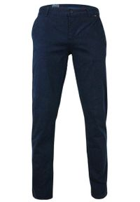 Niebieskie spodnie Rigon casualowe, na co dzień