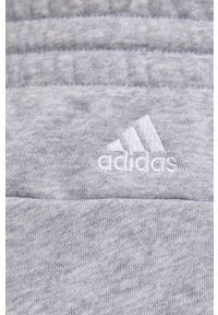 Adidas - adidas - Szorty. Kolor: szary. Materiał: dzianina, materiał. Wzór: nadruk