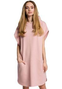 Sukienka dresowa MOE z kapturem