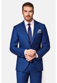 Lancerto - Garnitur Granatowy Raveno. Kolor: niebieski. Materiał: włókno, tkanina, wełna