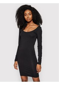 Samsoe & Samsoe - Samsøe Samsøe Sukienka codzienna Sik Long Solid 265 F00002017 Czarny Slim Fit. Okazja: na co dzień. Kolor: czarny. Typ sukienki: proste. Styl: casual