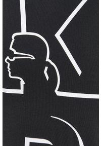 Karl Lagerfeld - T-shirt bawełniany. Okazja: na co dzień. Kolor: czarny. Materiał: bawełna. Wzór: nadruk. Styl: casual