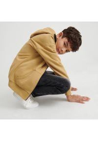 Reserved - Bawełniana bluza z kapturem - Brązowy. Typ kołnierza: kaptur. Kolor: brązowy. Materiał: bawełna