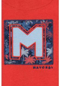 Czerwona bluza rozpinana Mayoral z aplikacjami, casualowa, na co dzień