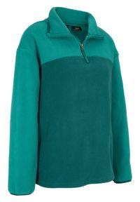 Zielona bluza bonprix z długim rękawem, długa