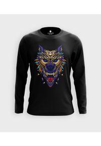 MegaKoszulki - Koszulka męska z dł. rękawem Pozłacany wilk. Materiał: bawełna