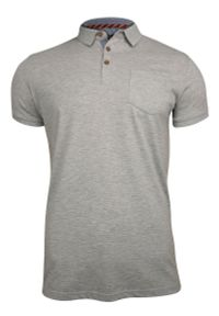 Szary t-shirt Brave Soul polo, casualowy