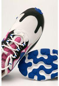 Białe buty sportowe Nike z cholewką, na sznurówki, z okrągłym noskiem