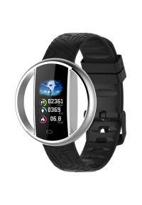 Srebrny zegarek GARETT smartwatch, sportowy