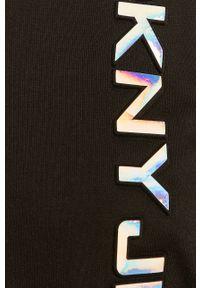 Czarna bluza DKNY z kapturem, z aplikacjami