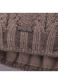Zimowa czapka damska PaMaMi - Kawa z mlekiem. Materiał: akryl, poliamid. Sezon: zima