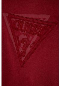 Czerwona bluza Guess Jeans casualowa, bez kaptura