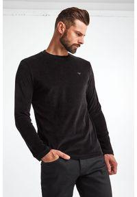 Emporio Armani - LONGSLEEVE EMPORIO ARMANI. Materiał: bawełna, tkanina. Długość rękawa: długi rękaw. Wzór: aplikacja