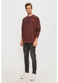 Fioletowa bluza nierozpinana Levi's® w kolorowe wzory, na co dzień, z okrągłym kołnierzem, biznesowa