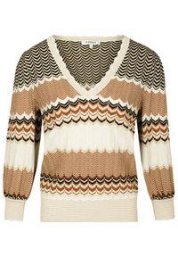 Morgan Sweter 211-MCLARA Beżowy Regular Fit. Kolor: beżowy #5