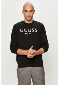Czarna bluza nierozpinana Guess bez kaptura, casualowa