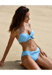 CAHA CAPO - Niebieski dól od bikini Maria. Kolor: niebieski. Materiał: materiał. Wzór: gładki, aplikacja