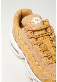 Pomarańczowe buty sportowe Nike Sportswear na sznurówki, na obcasie, Nike Air Max