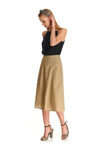 Beżowa spódnica TOP SECRET na lato, w kolorowe wzory