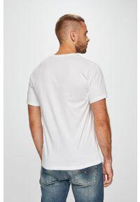 Biały t-shirt Converse z nadrukiem, casualowy, z okrągłym kołnierzem, na co dzień