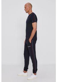 TOMMY HILFIGER - Tommy Hilfiger - T-shirt bawełniany. Okazja: na co dzień. Kolor: niebieski. Materiał: bawełna. Styl: casual